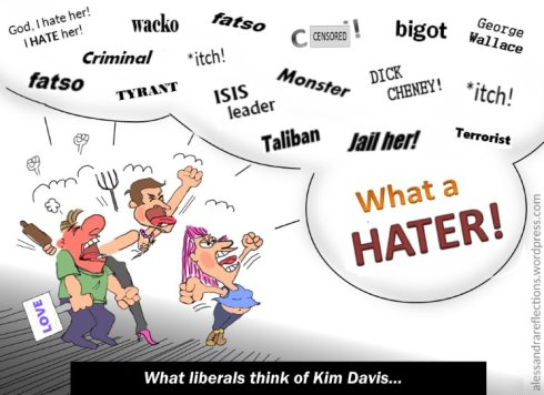 What liberals think of Kim Davis - Sept. 2015